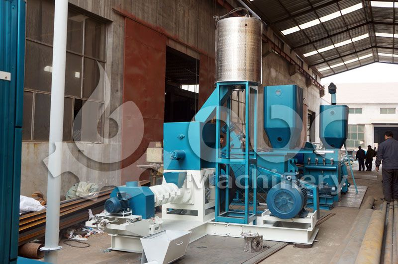 small sized fish feed plant for minitype aquatic feed processing factory