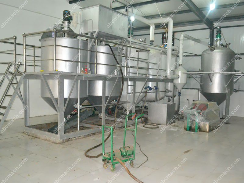 small vegetable oil refinery plant for local oil mill factory