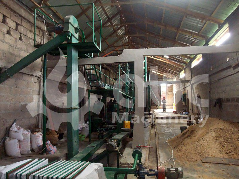 soya bean oil mill project under construction