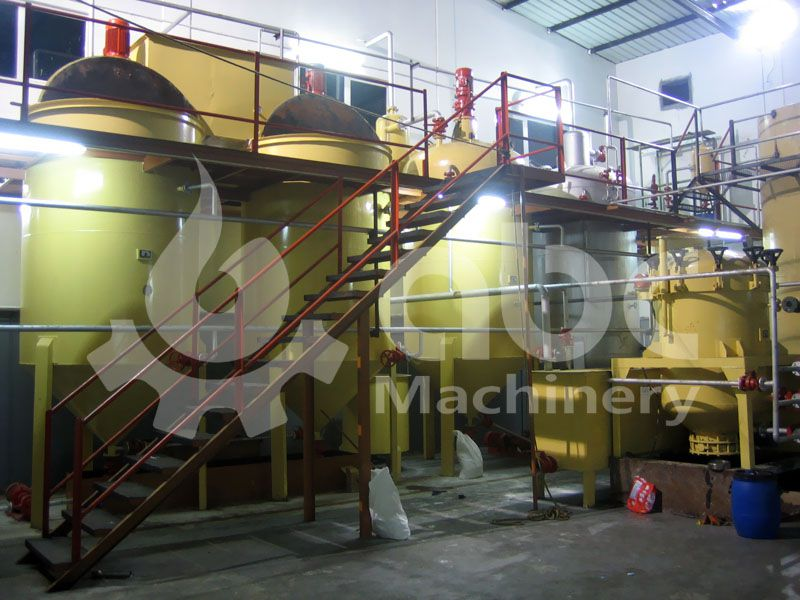 soyabean oil refinery plant machinery