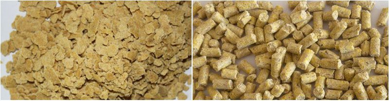 poultry feed pelelts made from soybean oil cake or meal