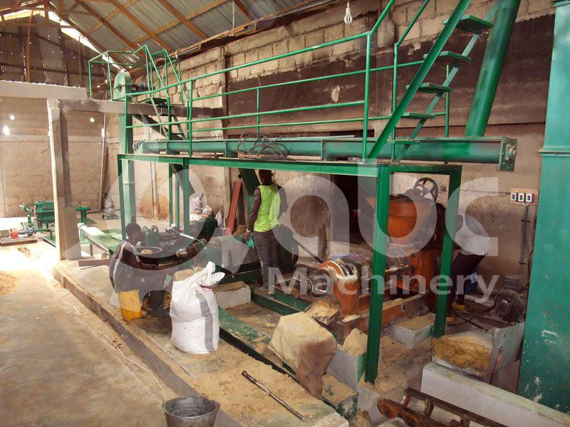 soybean oil expeller press included in the soybean processing plant