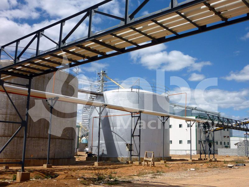 large soybean oil mill under construction