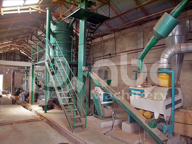 soybean oil proessing section of the oil mill