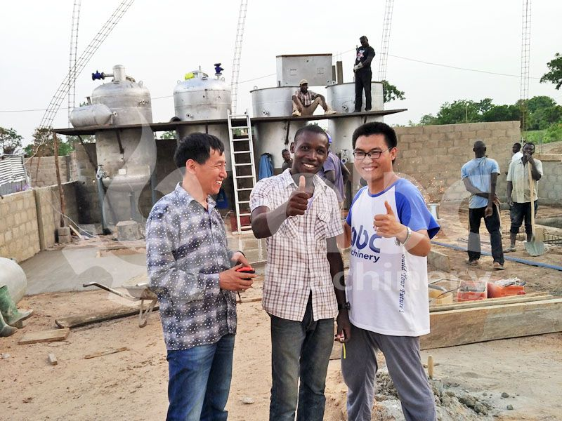 soybean oil refinery constuction our manager and client
