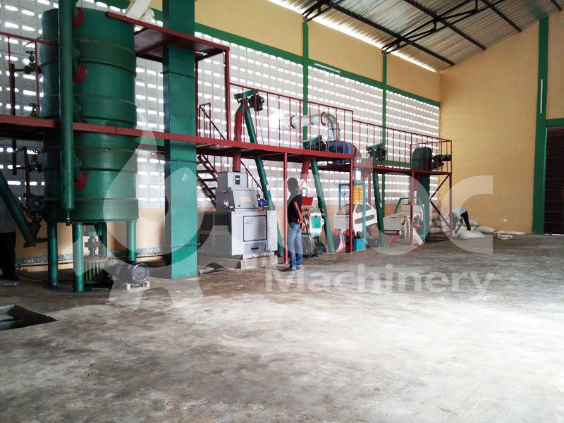 soybean peanut pretreatment equipment in the oil making plant