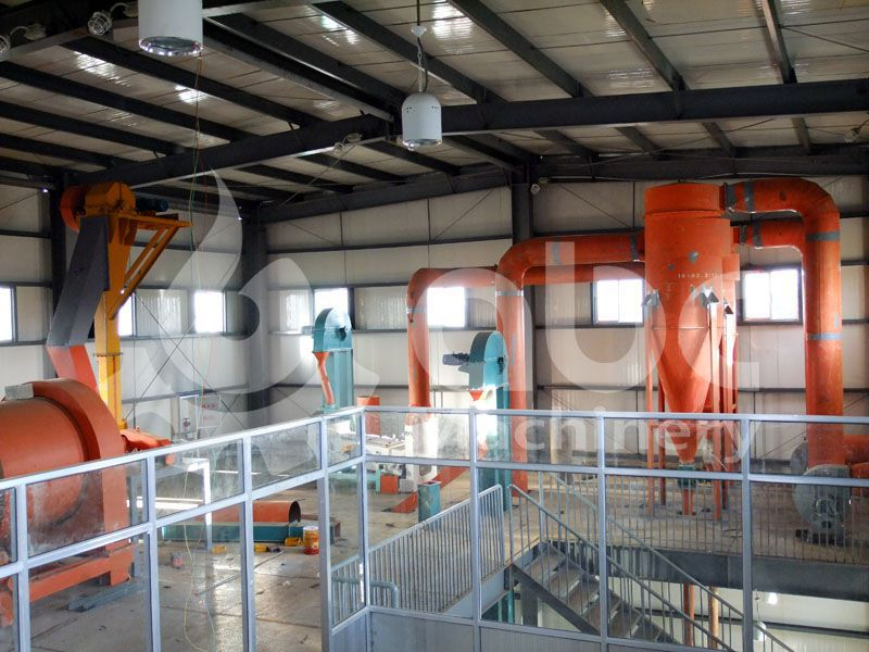 soybean preprocessing equipments in the mill