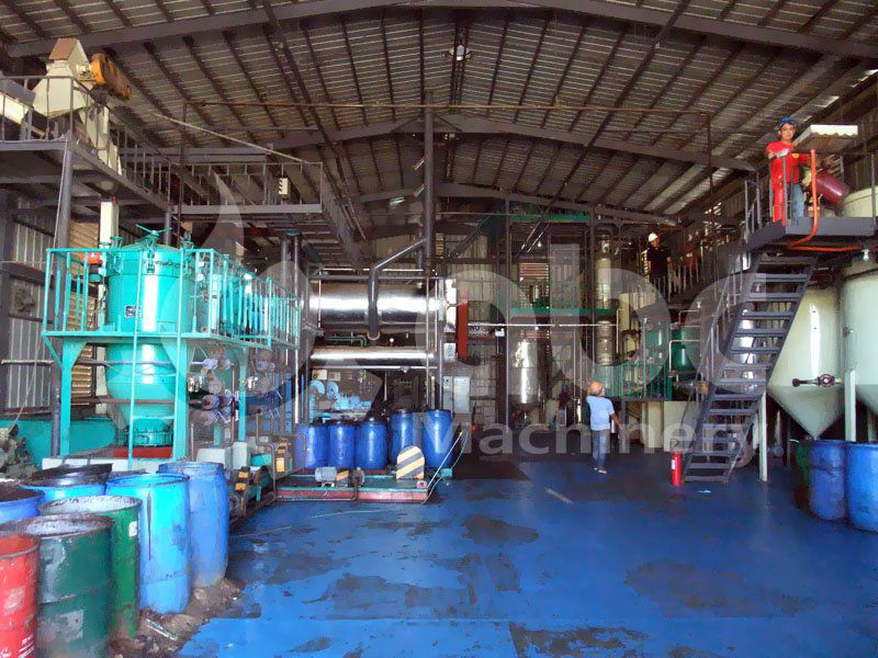 overview of the medium scale coconut oil refning factory mill