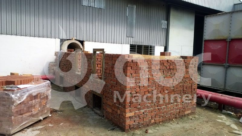 biomass stove for drying system of the complete pelletizing factory