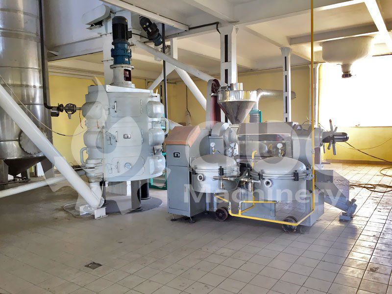sunflower oil processing machine included in the plant