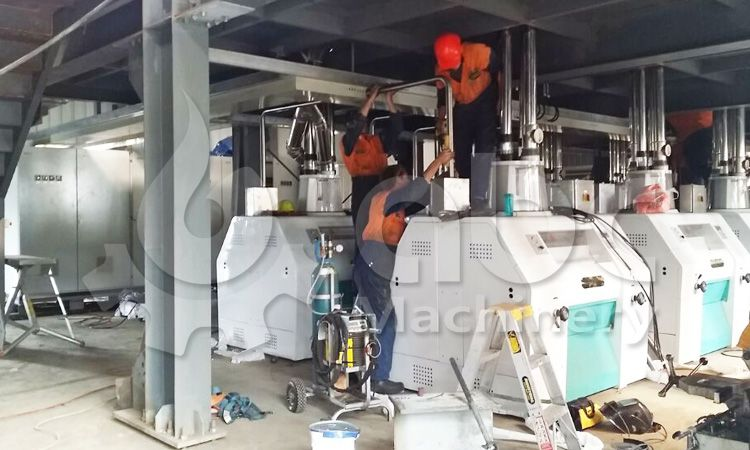 wheat milling machine installation