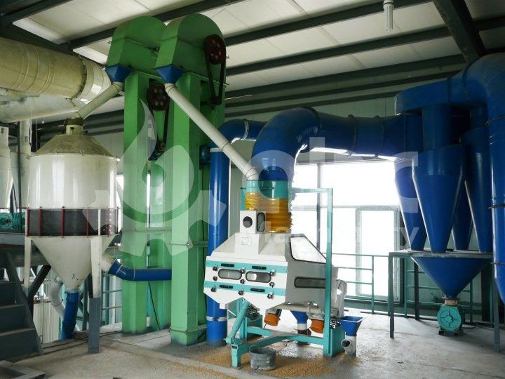 cleaning system of the wheat flour mill project