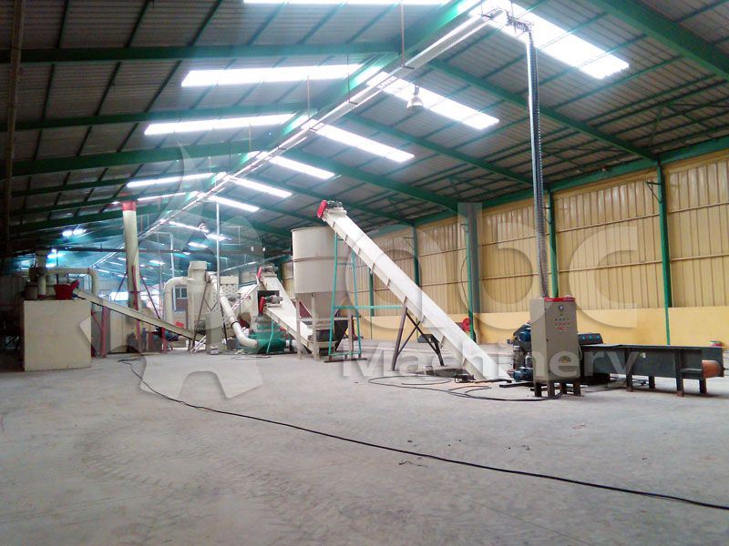 wood chipping and crushing machines for pretreatment process