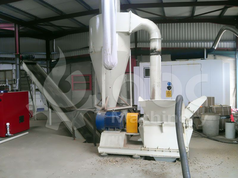wood crushing equipment for complete production line of biofuel pellets