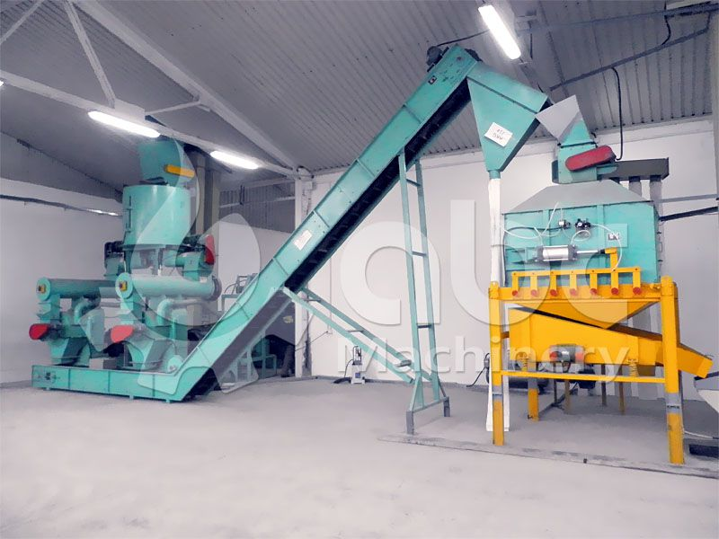 wood pellets machine included in the pellet plant for sale