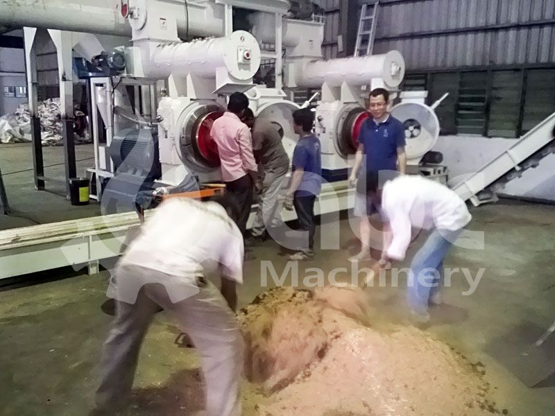 wood pellet plant test run after factory construction