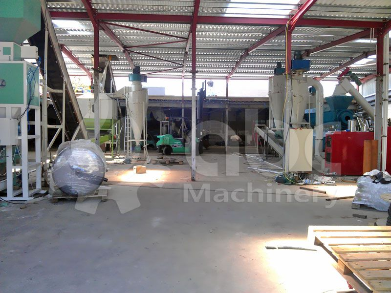 wood pellet production project under construction