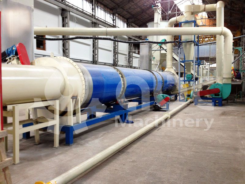 wood pelleting plant drying section