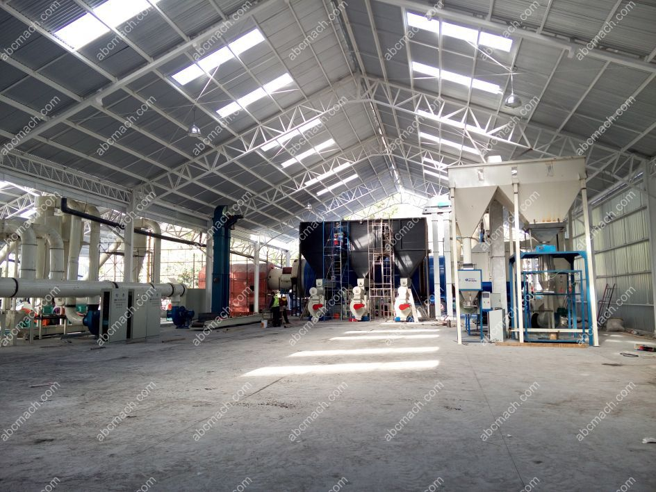 wood pelletizing line