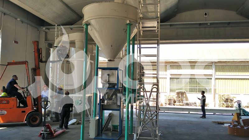 wood pellets cooling and packing equipment