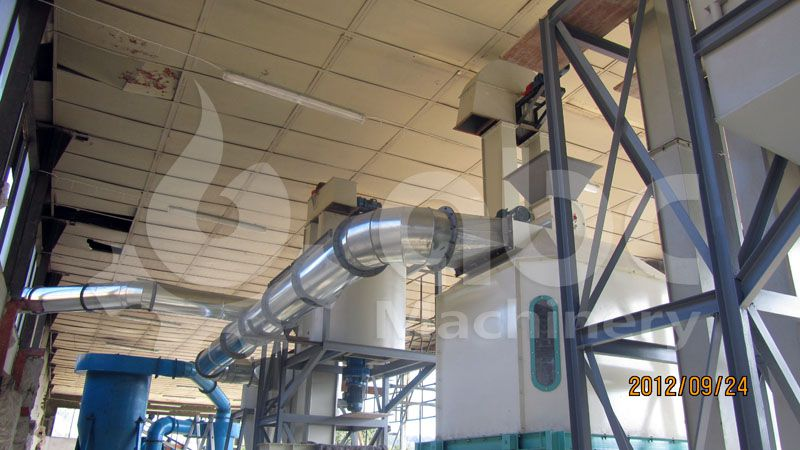 wood pellets cooling equipment for small wood pellet mill plant