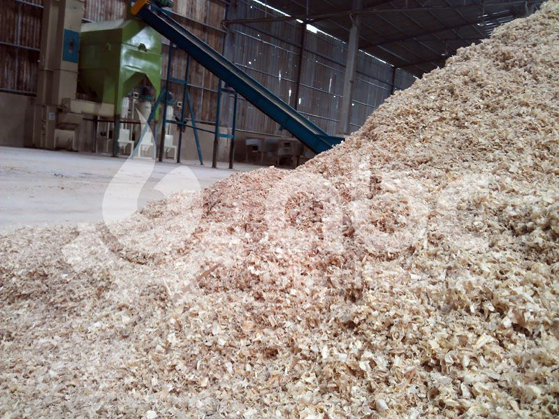 wood shavings for the wood pellets plant