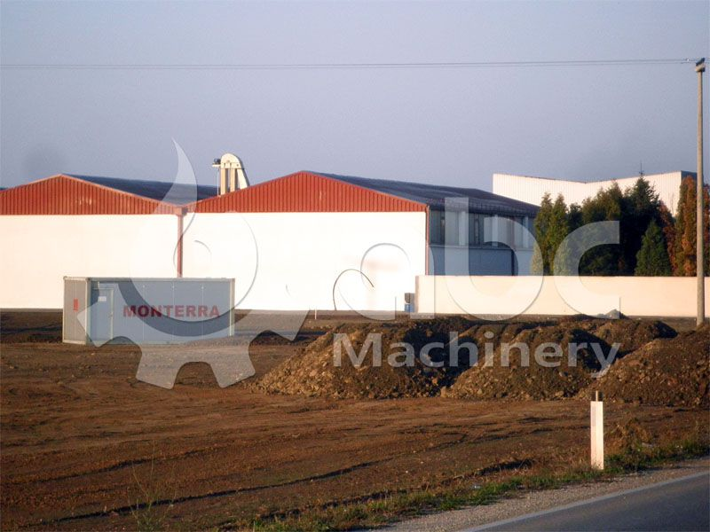 workshop of the complete wood pellet plant